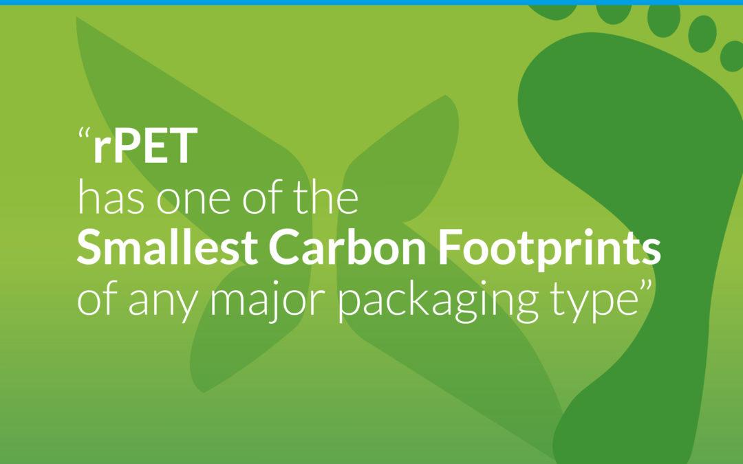 rPET has a lower carbon footprint than Aluminium & Glass